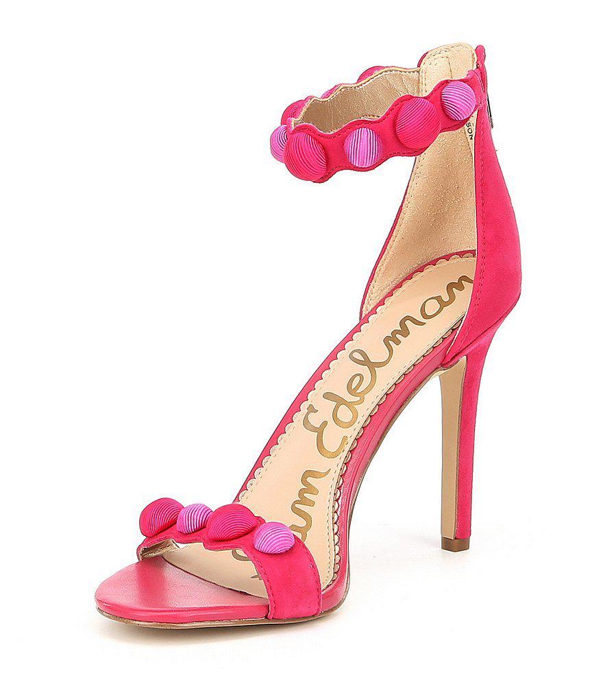 Addison Suede Decorative Buttons Ankle Strap Dress Sandals 1Pr9gXEt