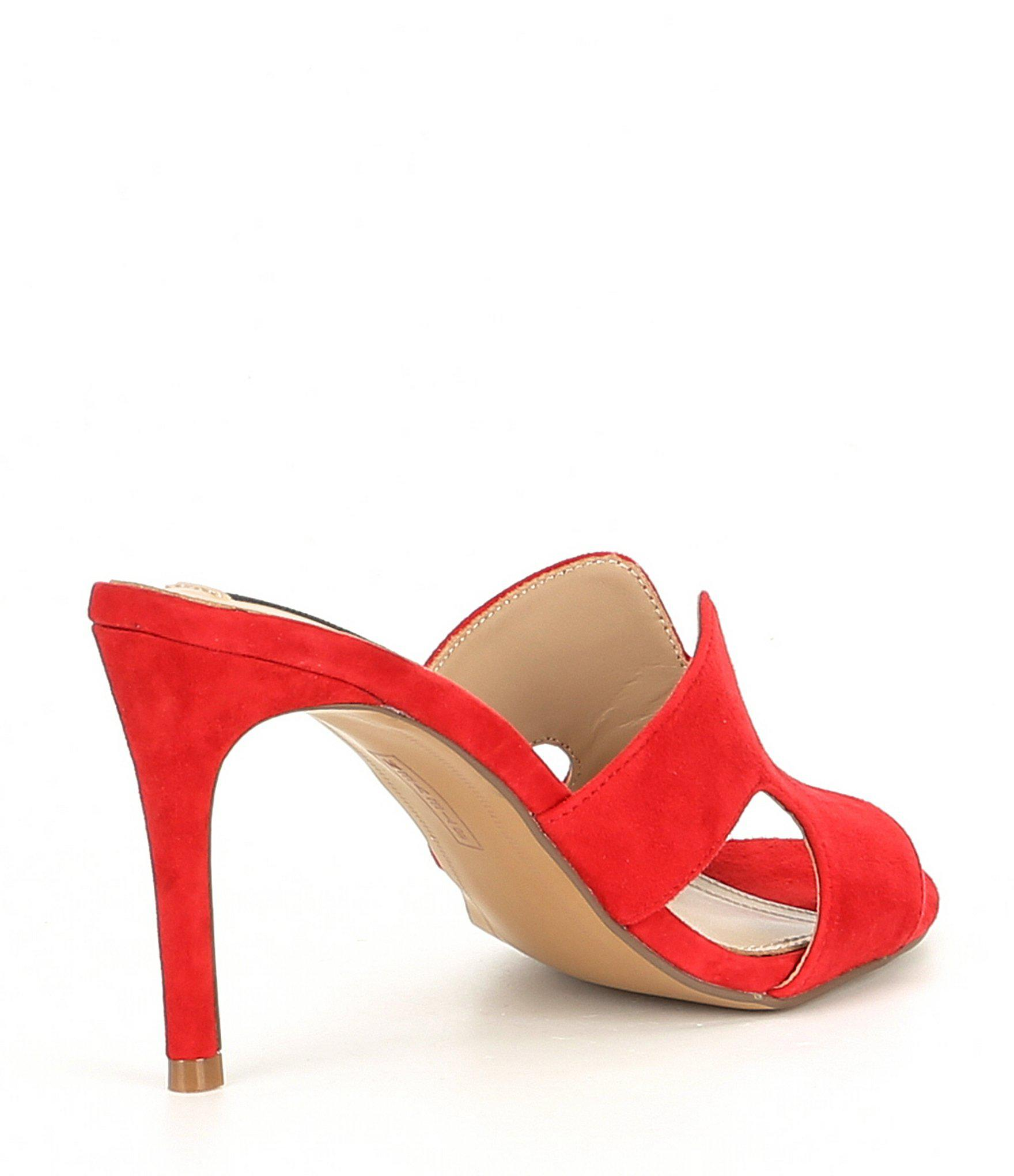 fa66cdd4c1 Steve Madden - Red Steven By Nylah Suede Stiletto Pumps - Lyst. View  fullscreen