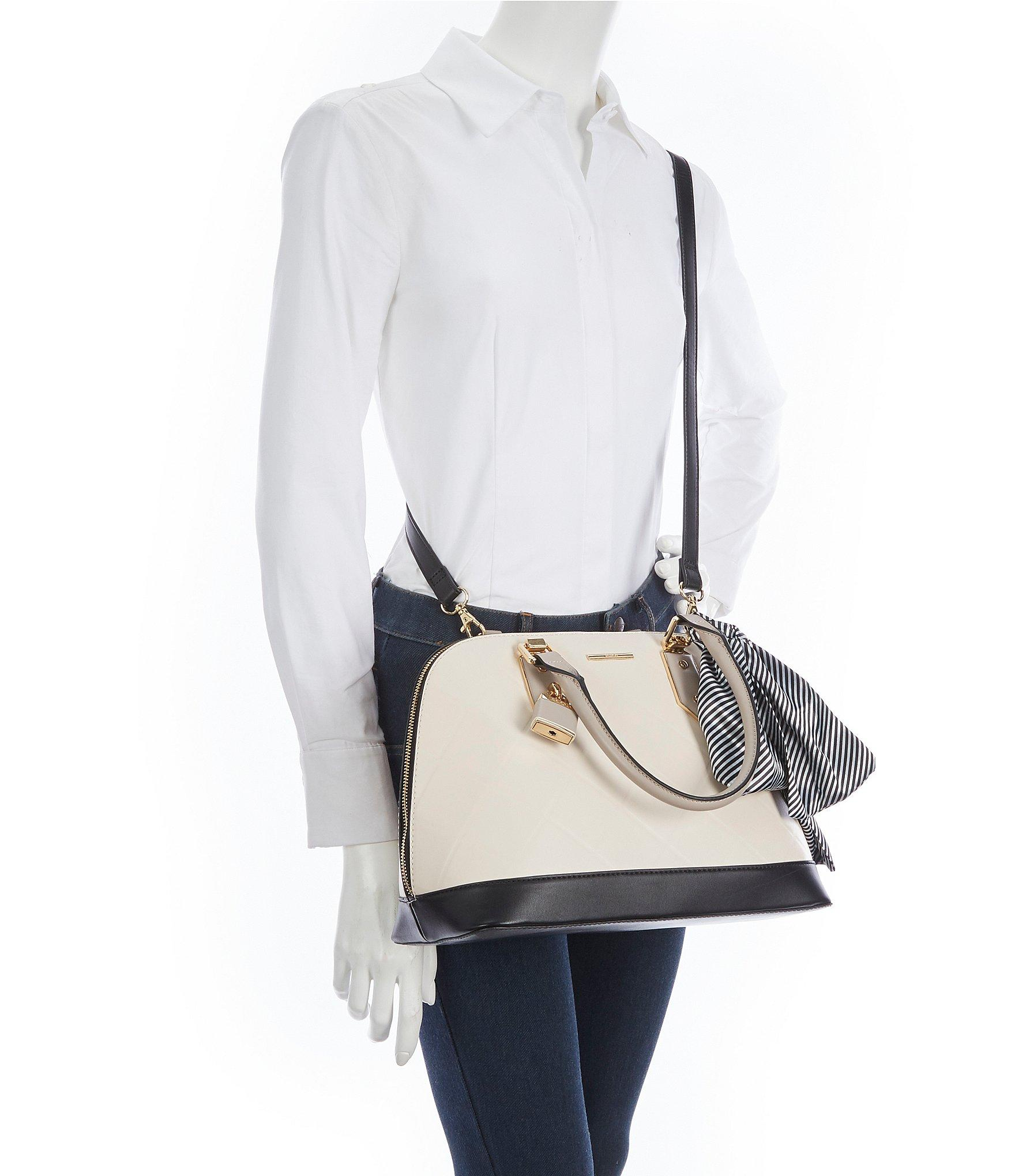 f99cfab19c0 ALDO - Natural Handful Colorblock Satchel With Scarf - Lyst. View fullscreen