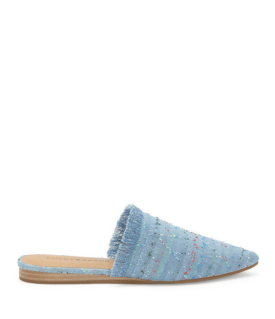 Bapsee Denim Cirque Pattern Mules