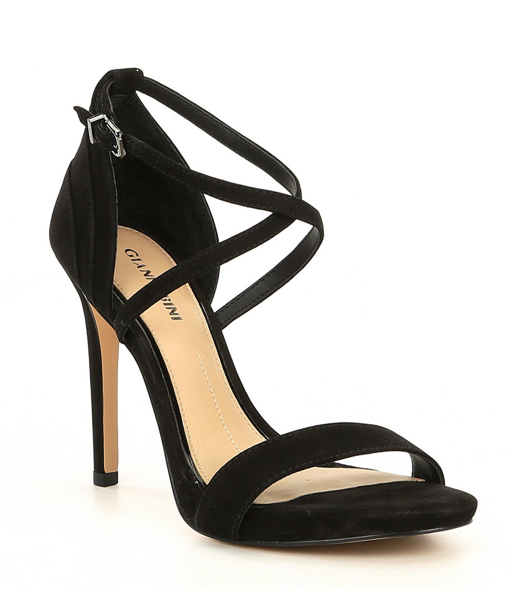 a552792325d Lyst - Gianni Bini Zandee Xband Strap Nubuck Dress Sandals in Black