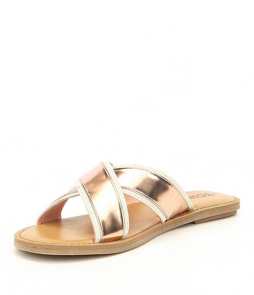 Viv Metallic Slide Sandals 4OR7KRU