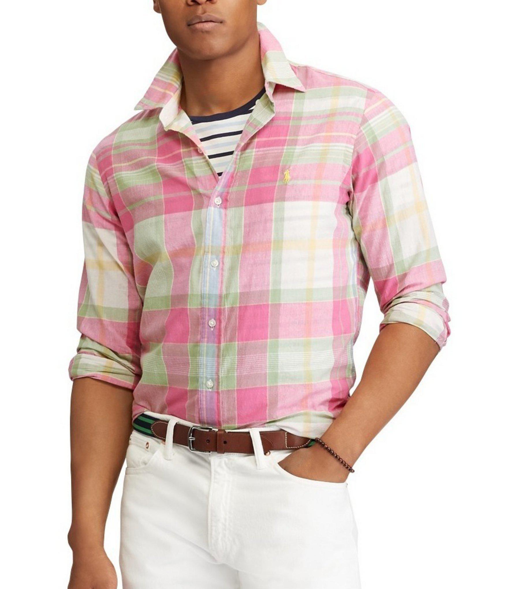 e4d4749a Lyst - Polo Ralph Lauren Big & Tall Madras Long-sleeve Woven Shirt ...