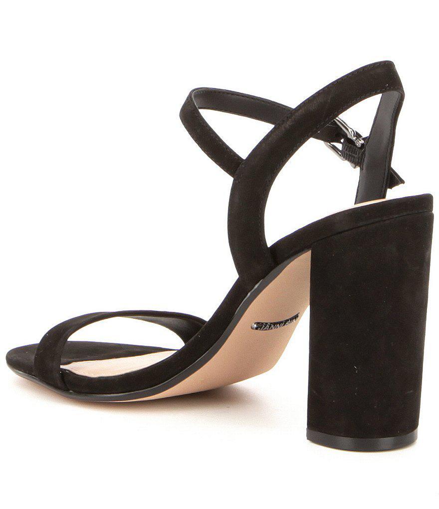 Mckaria Nubuck Leather Block Heel Dress Sandals oMKMMjfr