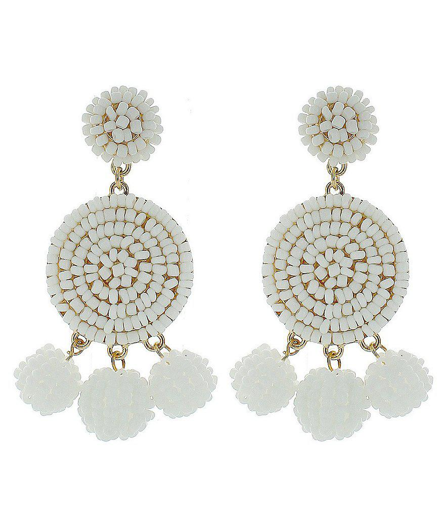 Panacea Pearl Beaded Statement Earrings 5Xa14THECV