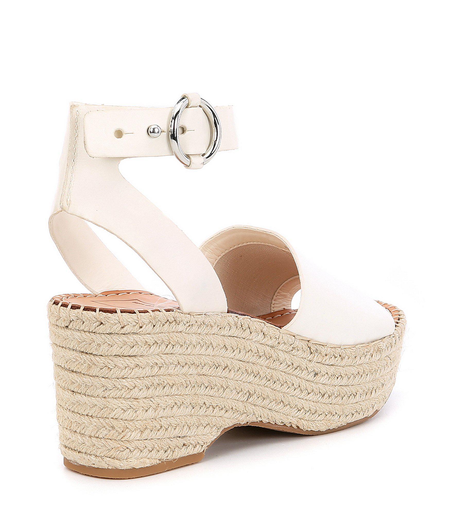 4a45e3dab41 Dolce Vita - White Lesly Leather Platform Espadrille Sandals - Lyst. View  fullscreen