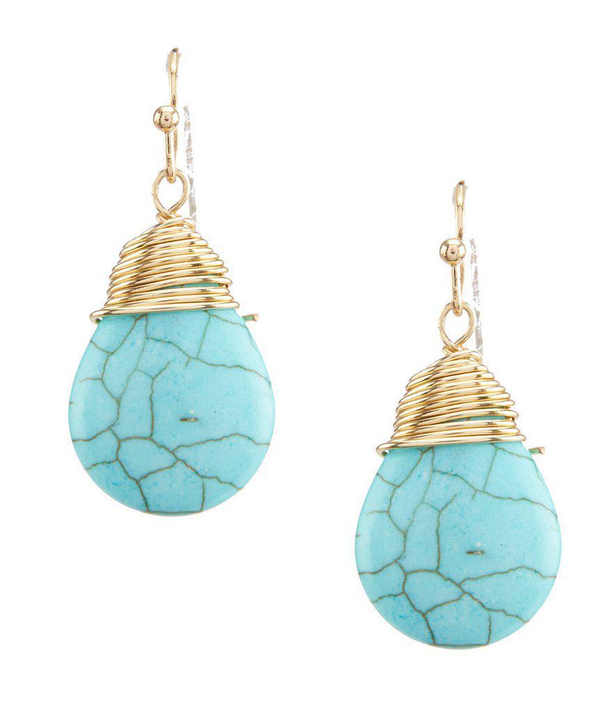 Lyst - Dillard\'S Wire Wrapped Drop Earrings