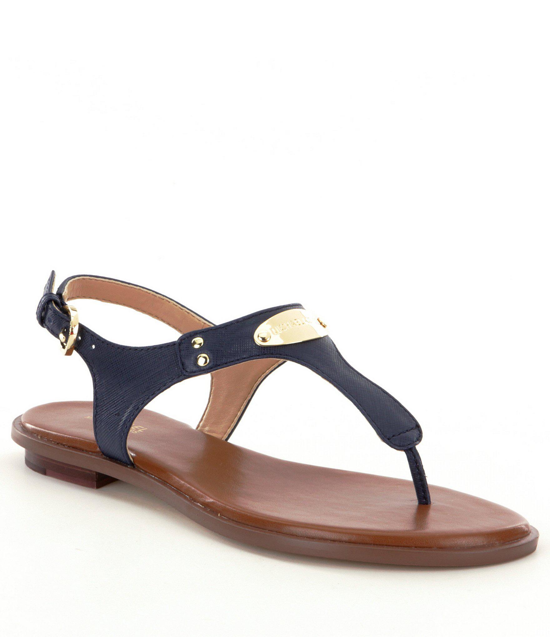 3007e2d603c Lyst - MICHAEL Michael Kors Mk Plate Sandals in Blue