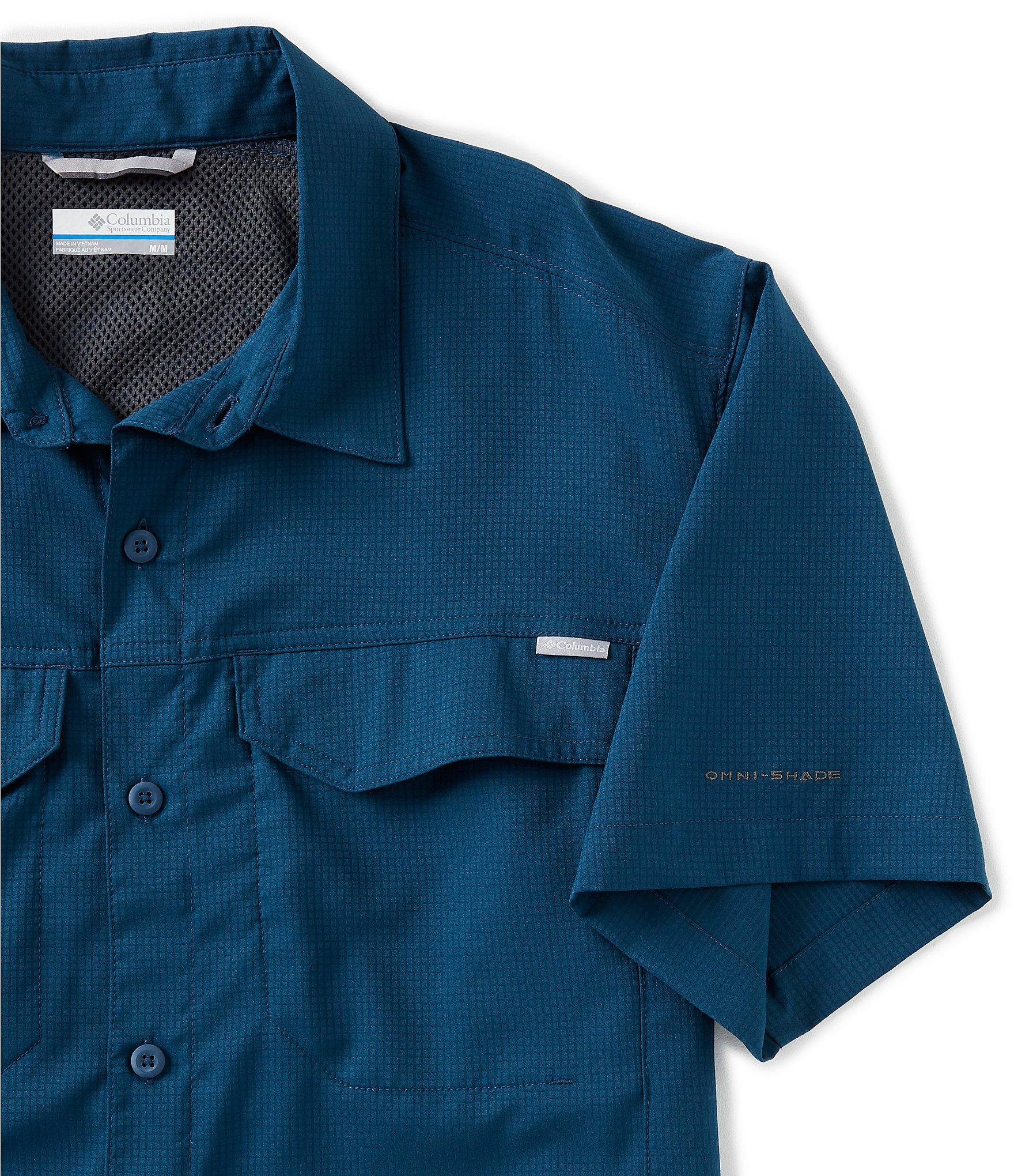 39e181cd0f3 Columbia - Blue Pfg Silver Ridge Lite Short-sleeve Woven Shirt for Men -  Lyst. View fullscreen