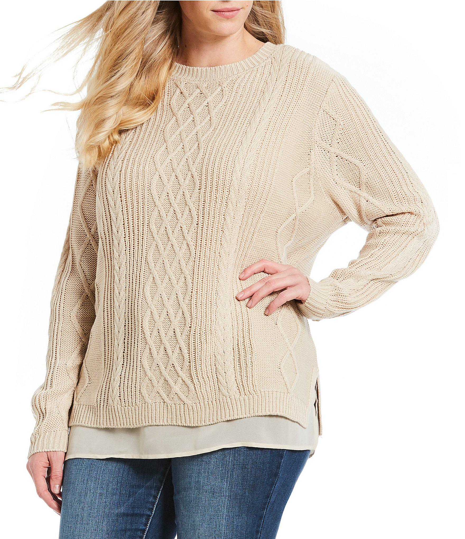 e2ff1d0768bf5 Lyst - Jessica Simpson Plus Size Arylic Lurex Sweater