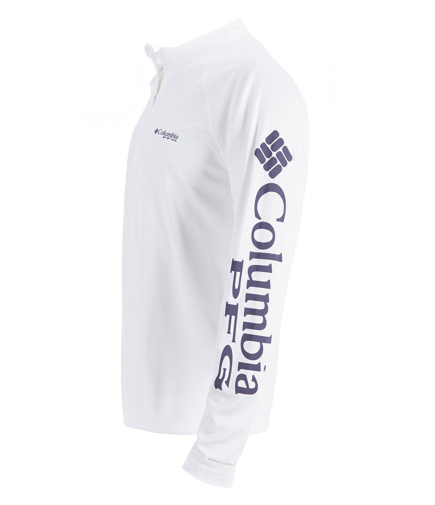 ebdaefb05ff Lyst - Columbia Pfg Terminal Tackle Quarter-zip Pullover in White ...