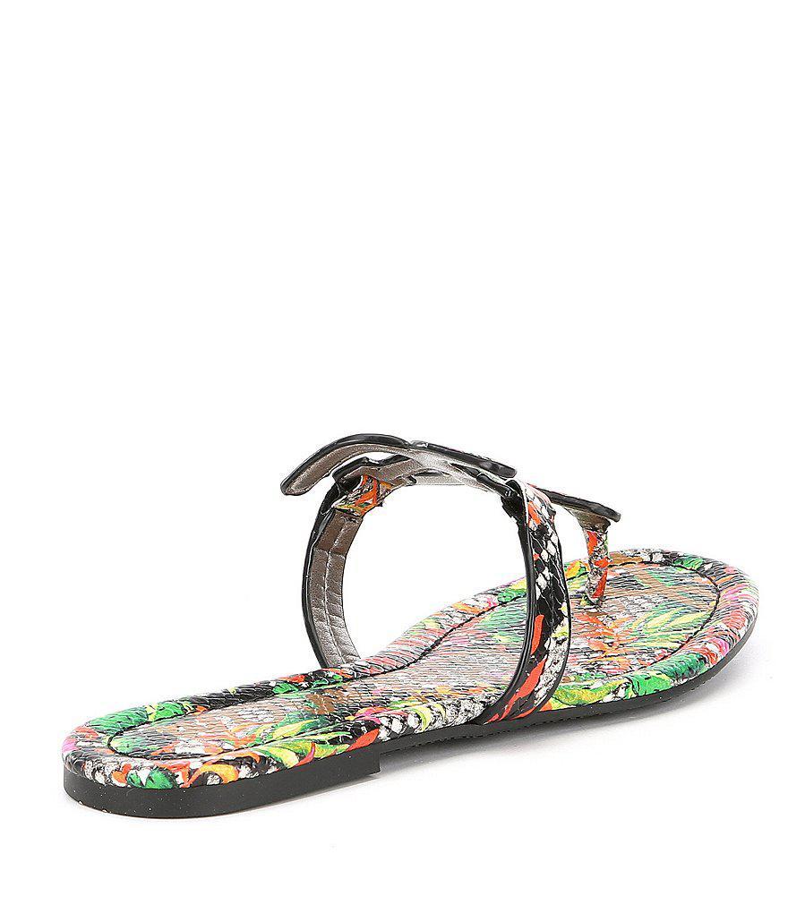 Carter Snake Print Double E Sandals ftWAC