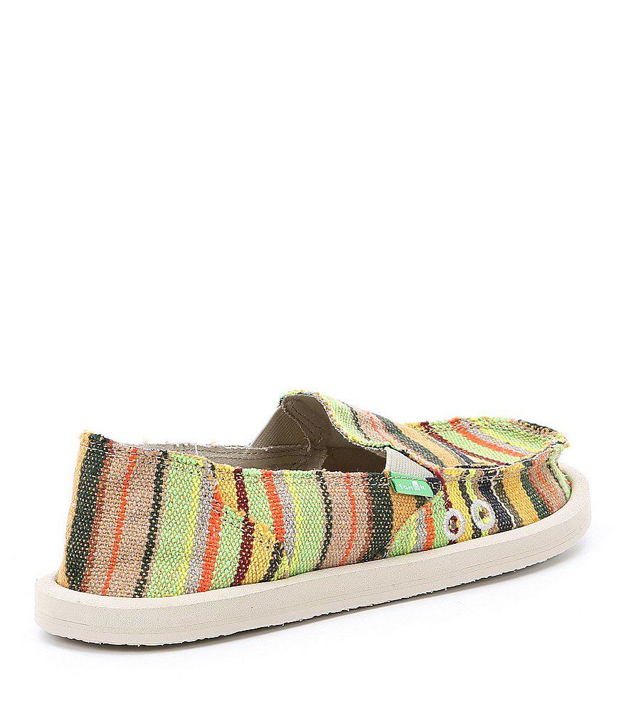 Donna Kauai Blanket Textile Slip On Shoes