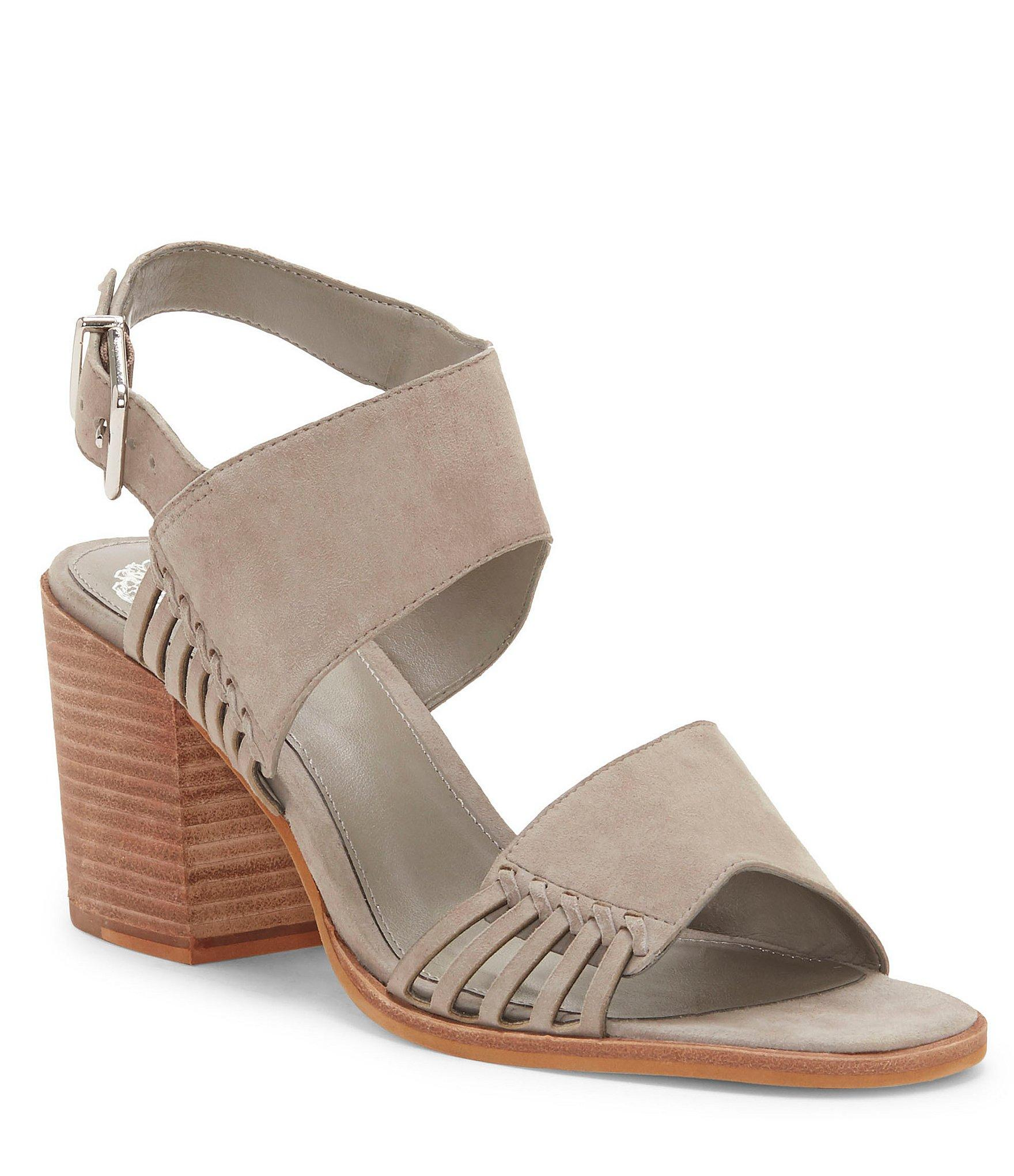 18a4ead8945ae Lyst - Vince Camuto Karmelo Suede Block Heel Sandals in Gray