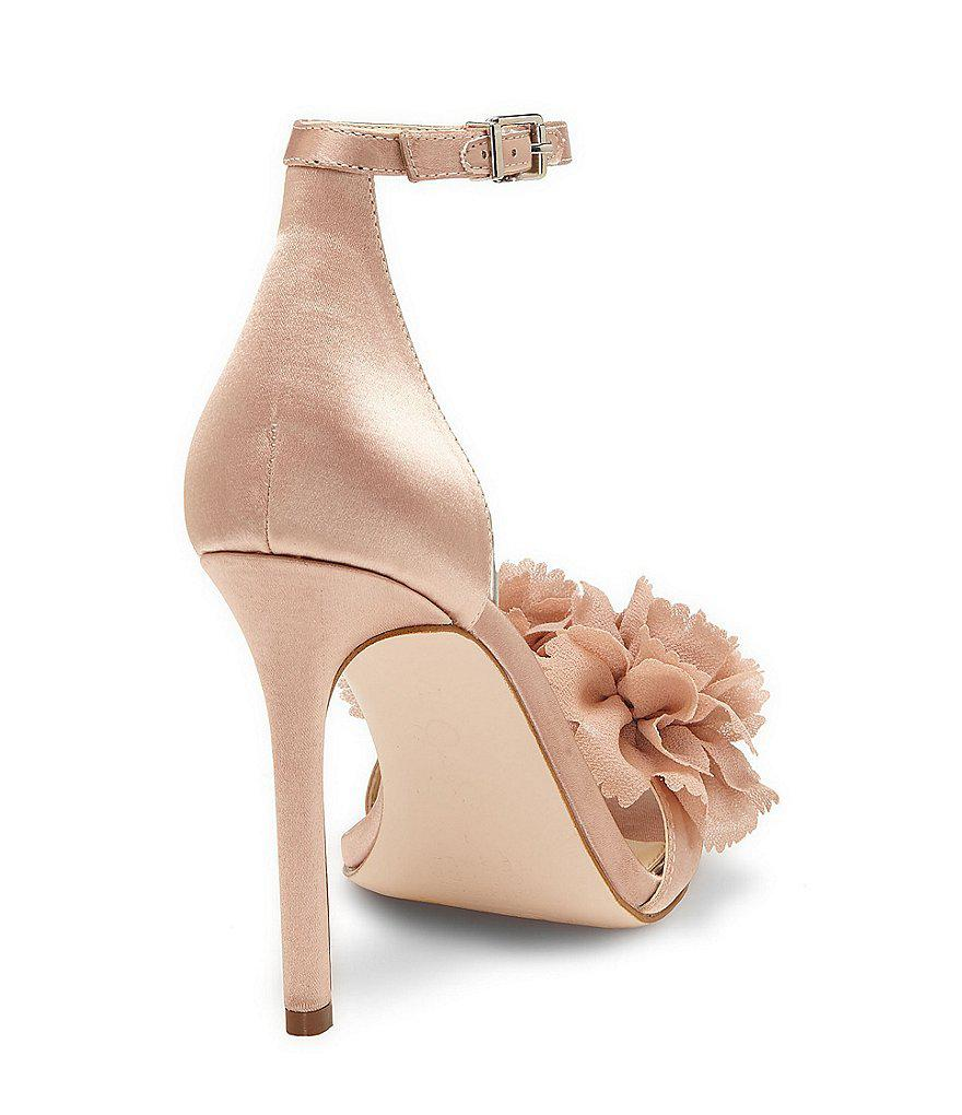 Jeena Organza Flower Ankle Strap Dress Sandals scMpP1L