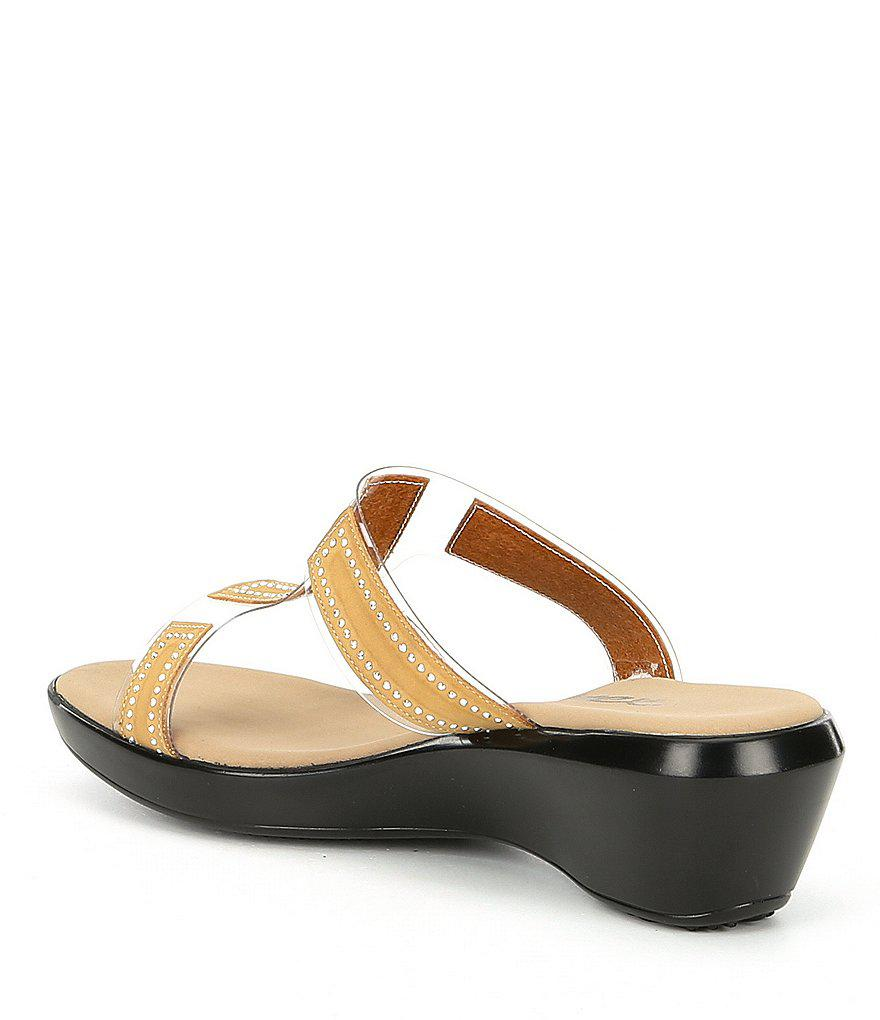 Onex Piper Transparent Lucite and Rhinestones Slide Sandals XWpun