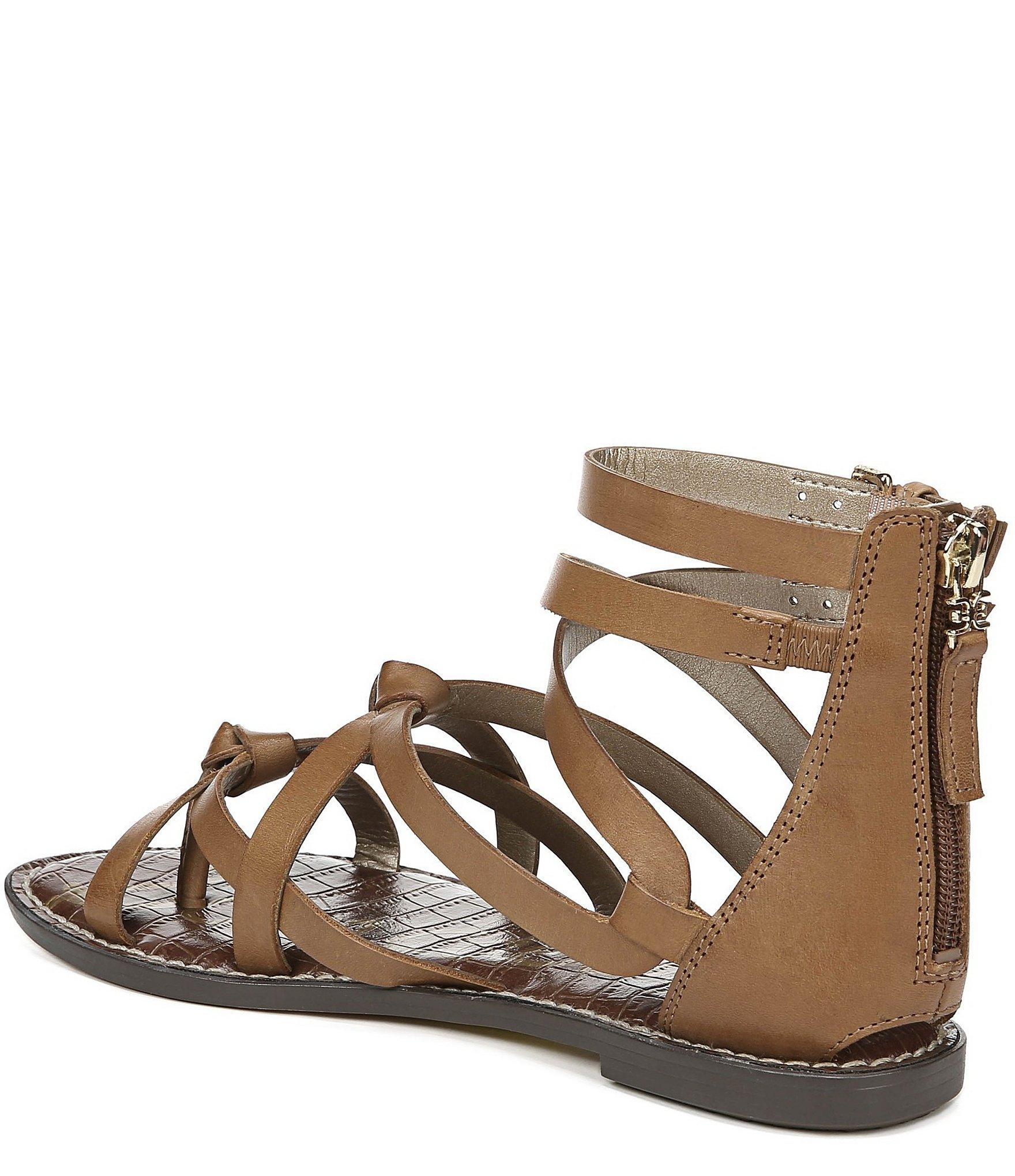 ac3f4717ef34 Lyst - Sam Edelman Gaton Leather Gladiator Sandals in Brown