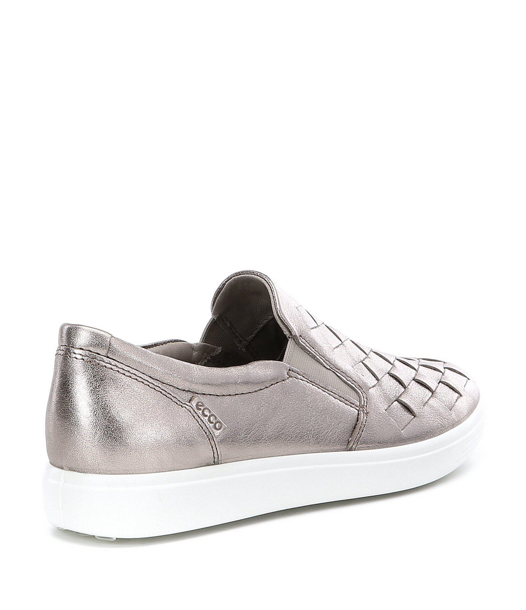 fbc91bd859f Ecco - Black Women s Soft 7 Woven Slip-on Sneakers - Lyst. View fullscreen