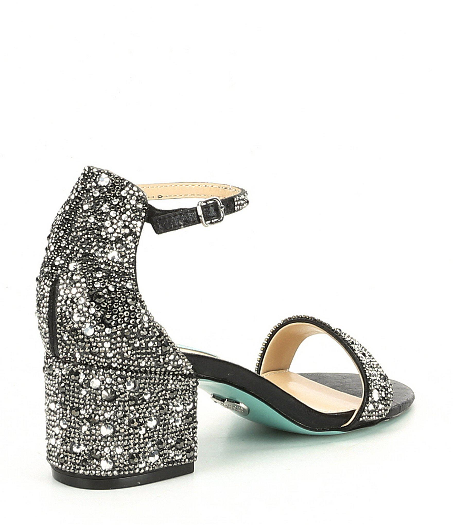 904724d4fe7 Lyst - Betsey Johnson Blue By Mari Block Heel Dress Sandals in Black