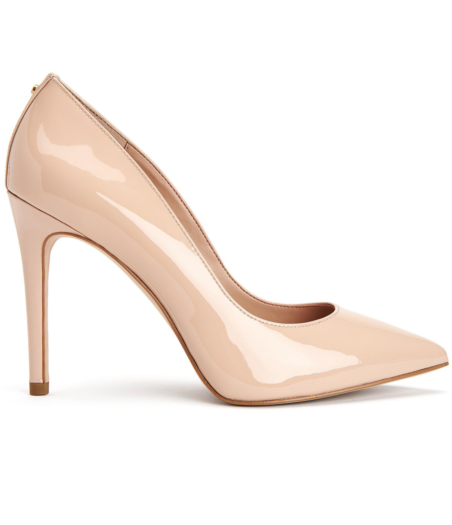 b7ed4aace0 BCBGeneration - Natural Heidi Pointed-toe Patent Pumps - Lyst. View  fullscreen