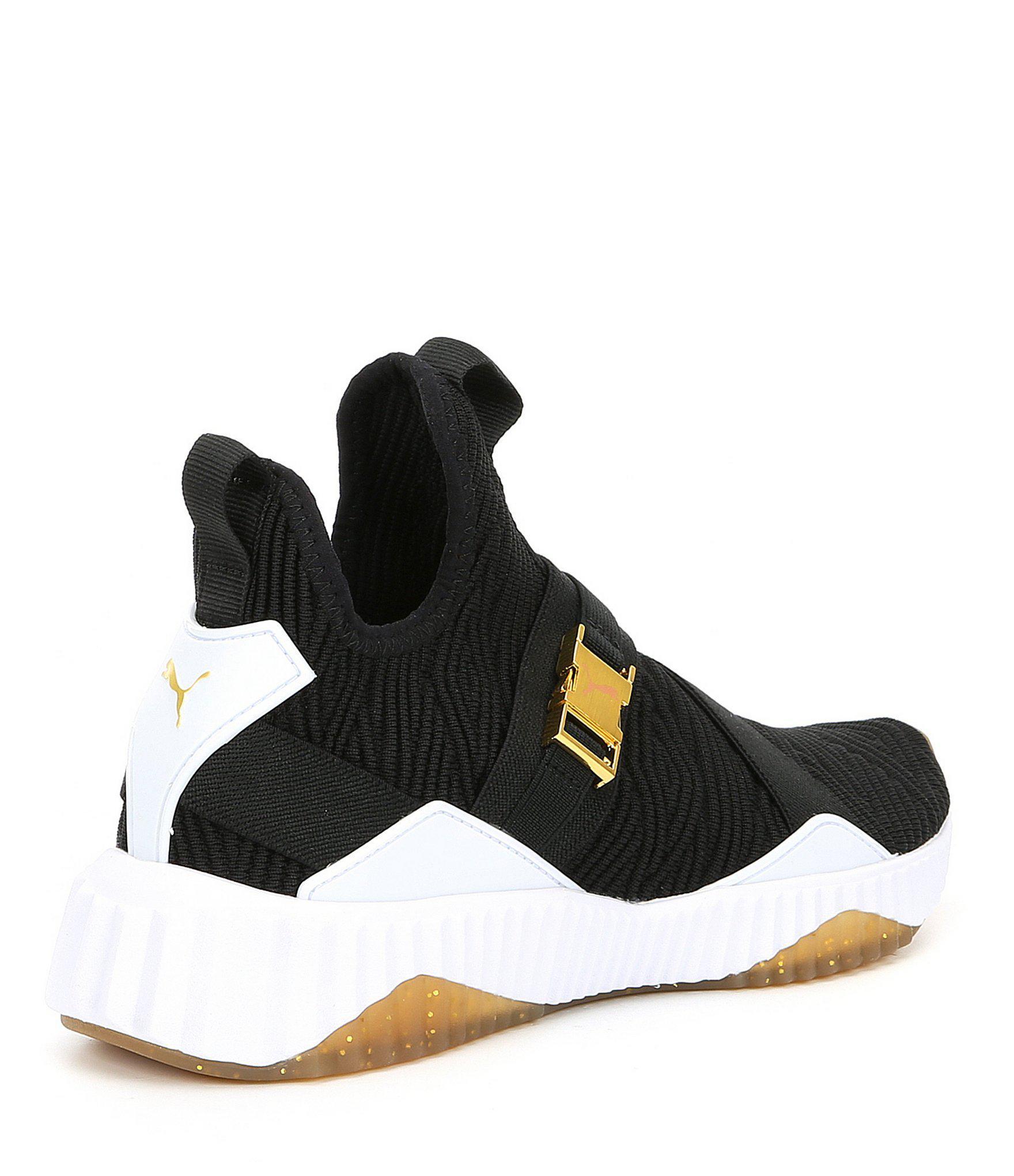PUMA - Black Women s Defy Mid Varsity Sneakers - Lyst. View fullscreen a22e8f34f