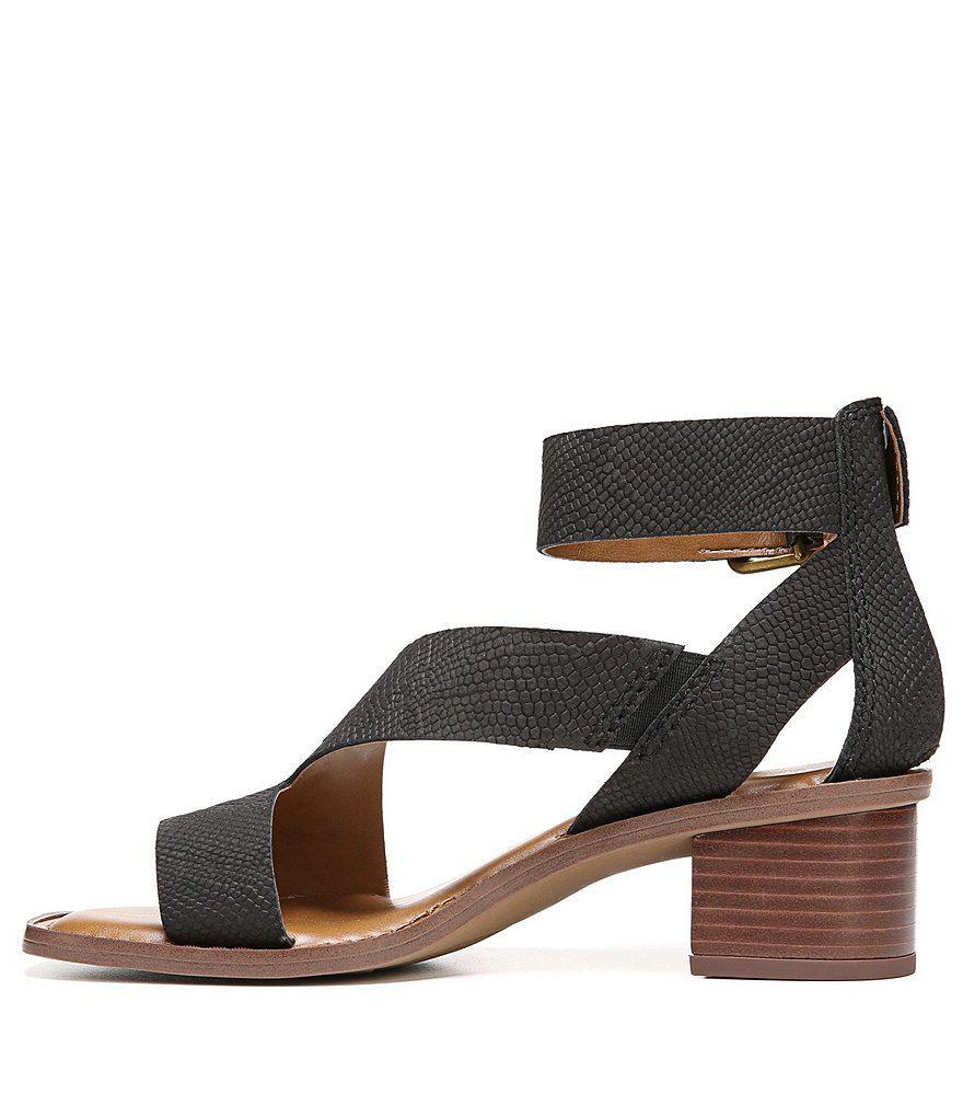 f6e8f6b4e70 Lyst - Franco Sarto Lorelia Ankle Strap Block Heel Sandals