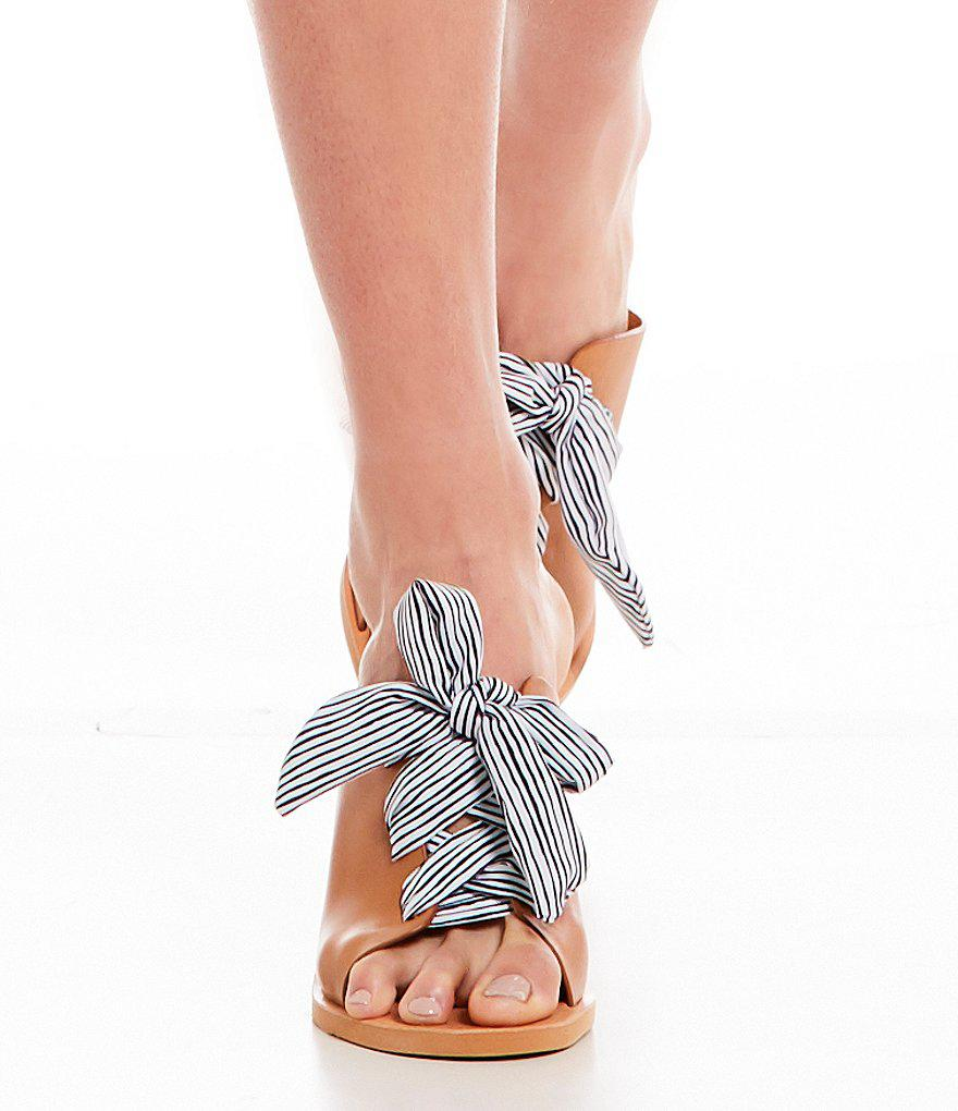 Lyst Dolce Vita Amber Tie Front Sandals In Brown