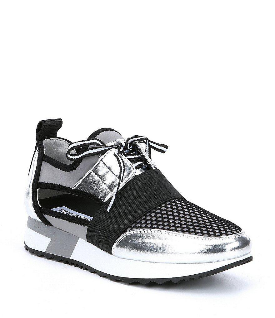94a1a3a03ba Lyst - Steve Madden Arctic Metallic Cutout Sneakers in Metallic for Men