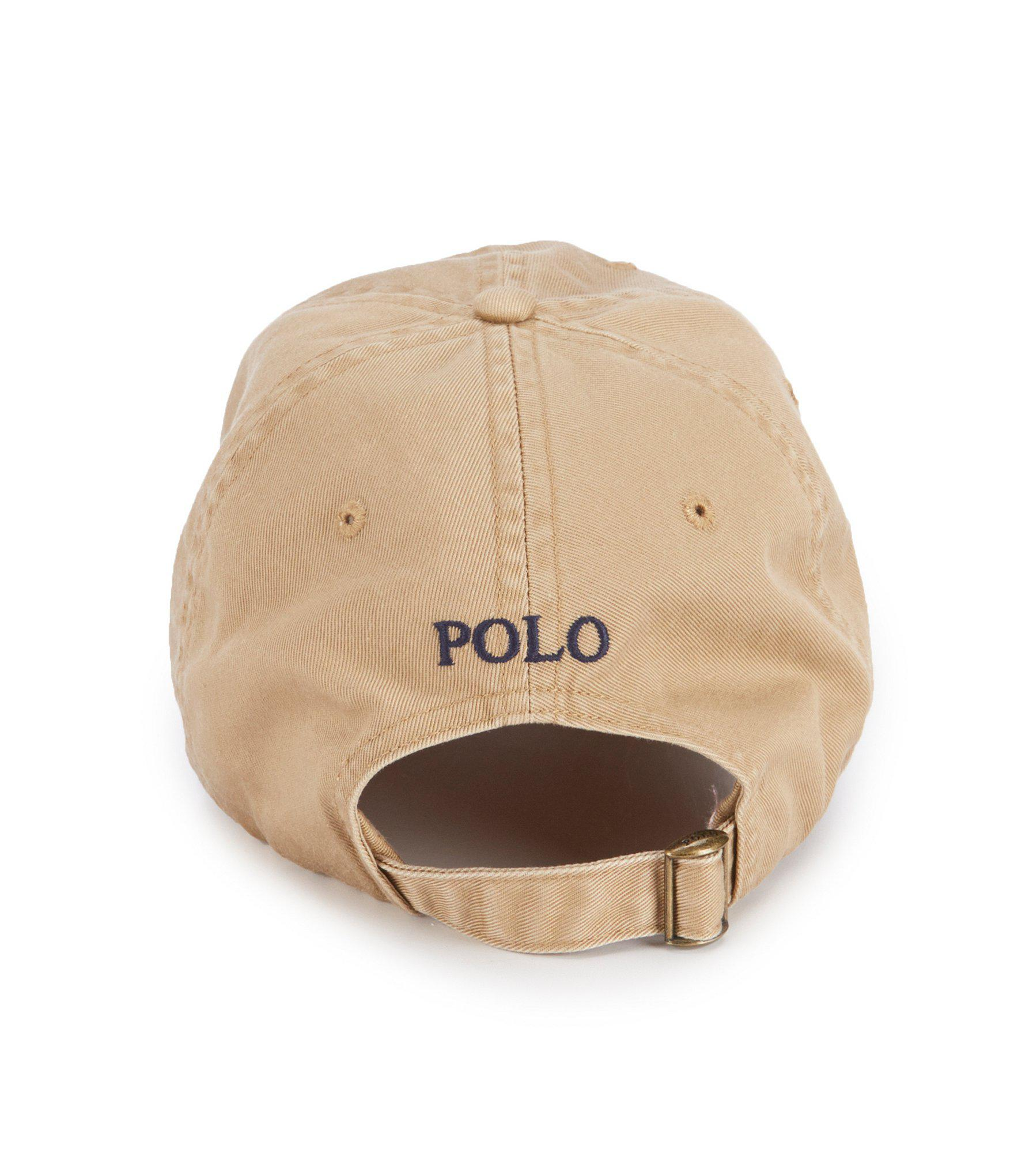 Lyst - Polo Ralph Lauren Skull-and-crossbones Chino Cap in Natural ... 787392ab3fbb