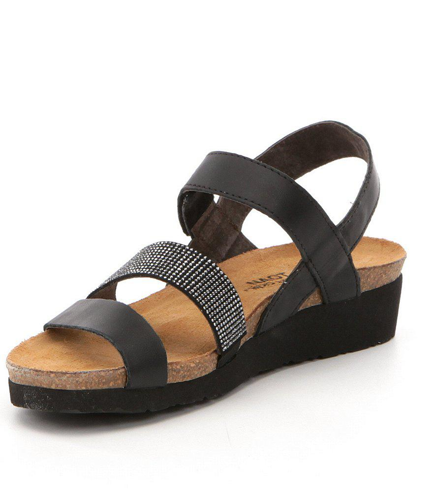 Krista Rhinestone Detail Leather Sandals Ad8ApFlkQs