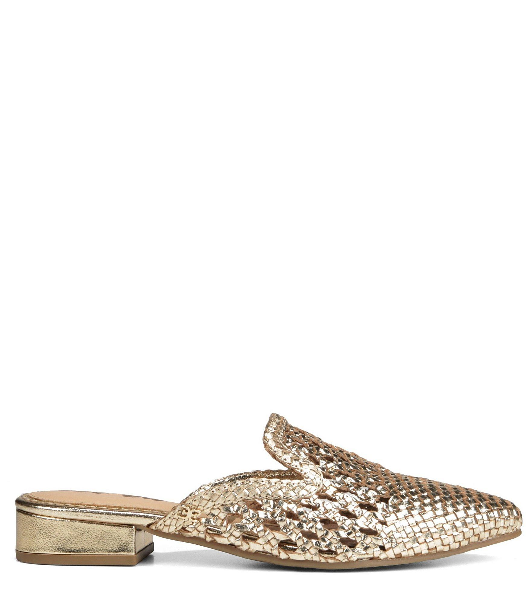 c1fee4669 Sam Edelman - Metallic Women s Clara Woven Leather Mules - Lyst. View  fullscreen