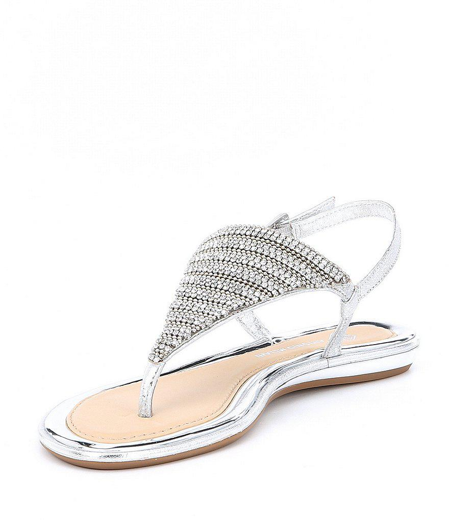 Suliana Jeweled Thong Sandals ApLg28