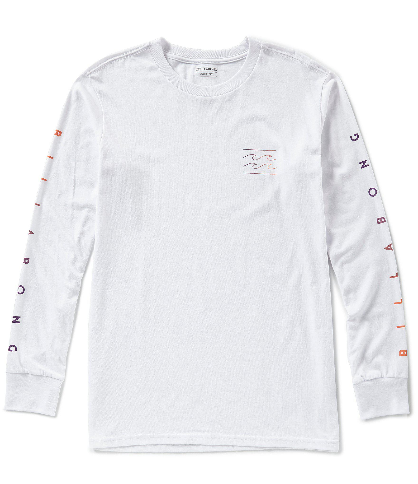 34b160be9ed8 Billabong - White Premium Unity Sleeves Long-sleeve T-shirt - Lyst. View  fullscreen