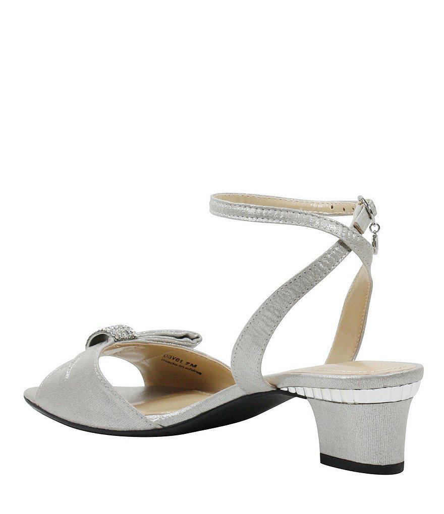 Davet Satin Rhinestone Bow Dress Sandals 72vjmk