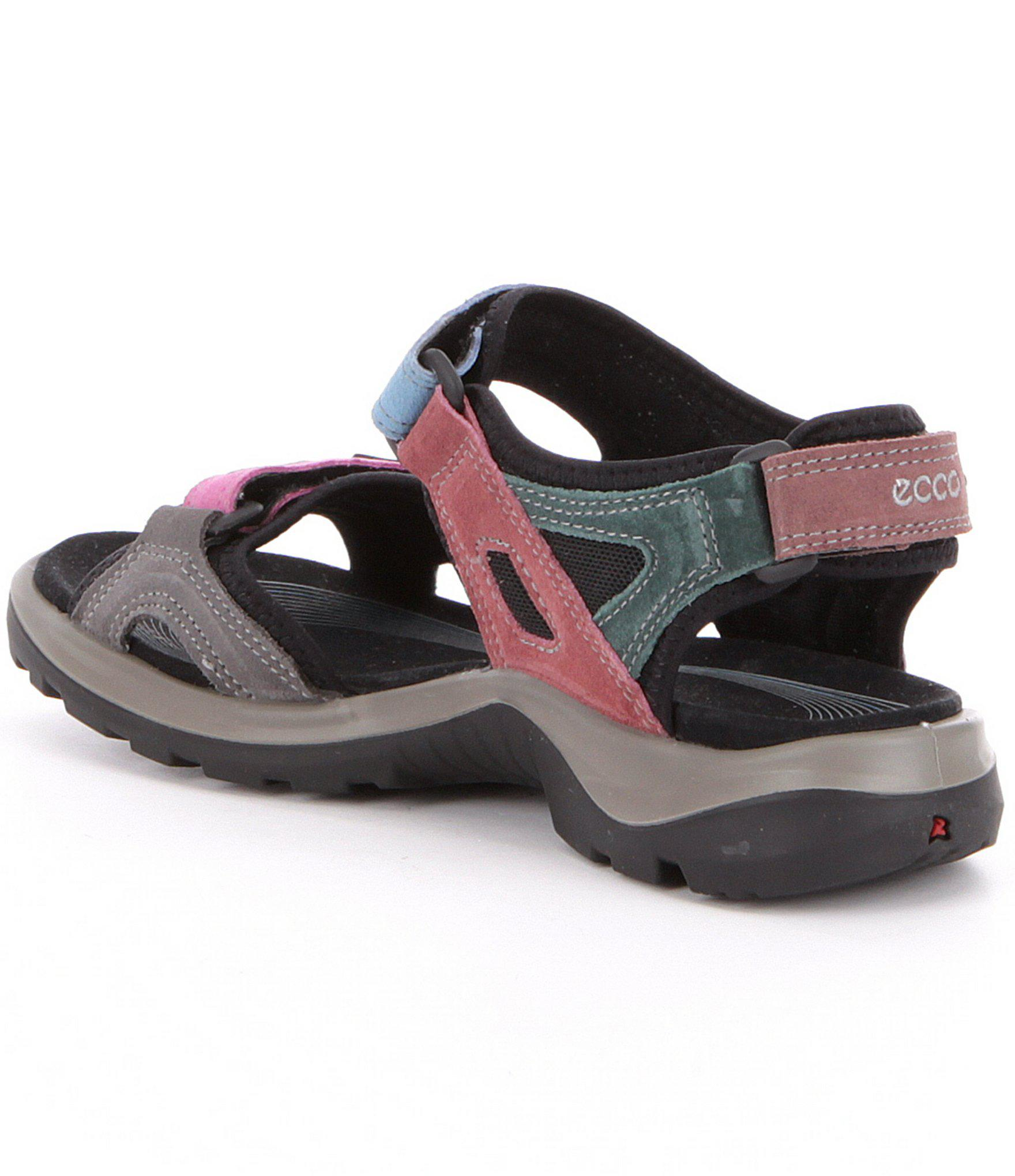 f762511eeed5 Lyst - Ecco Womens Yucatan Offroad Multi Colored Banded Outdoor Sandals