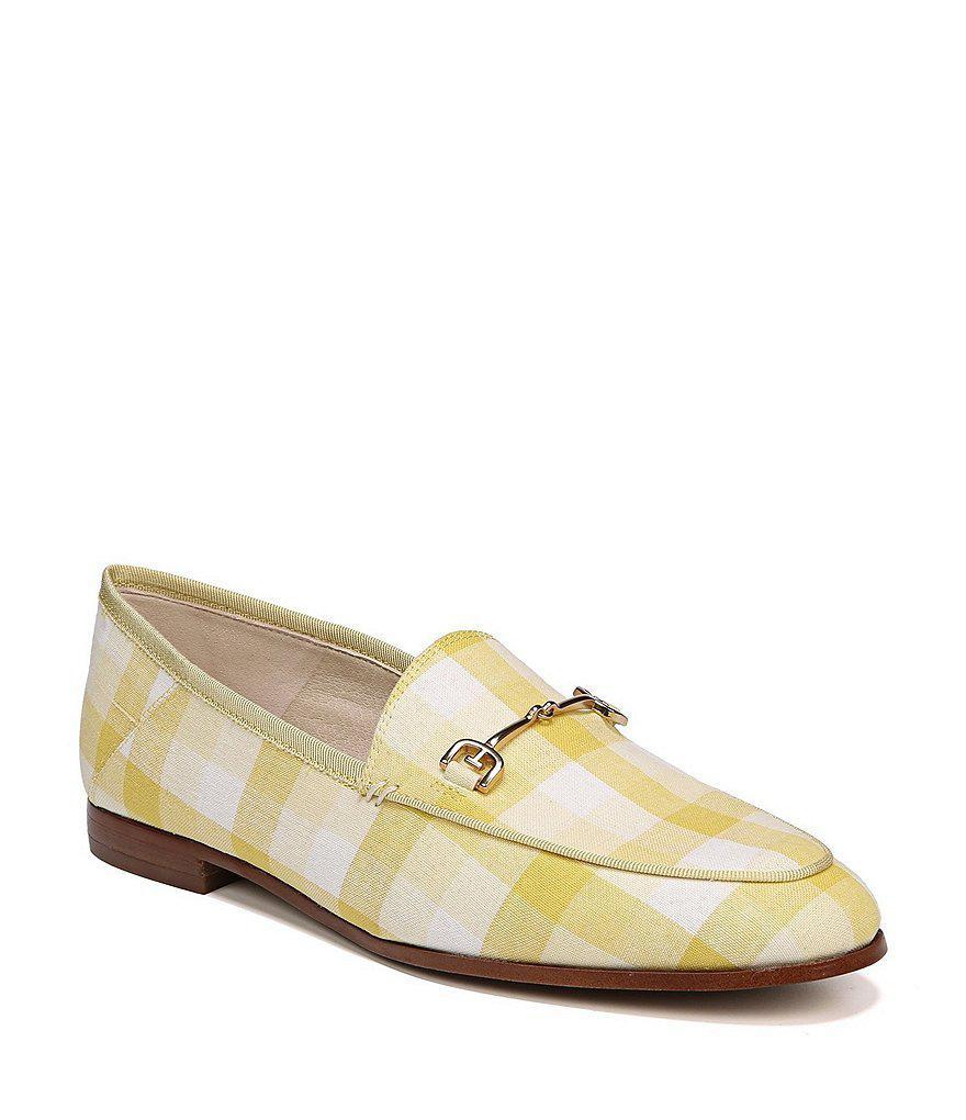 Sam Edelman Loraine Gingham Print Fabric Loafers emgyGT