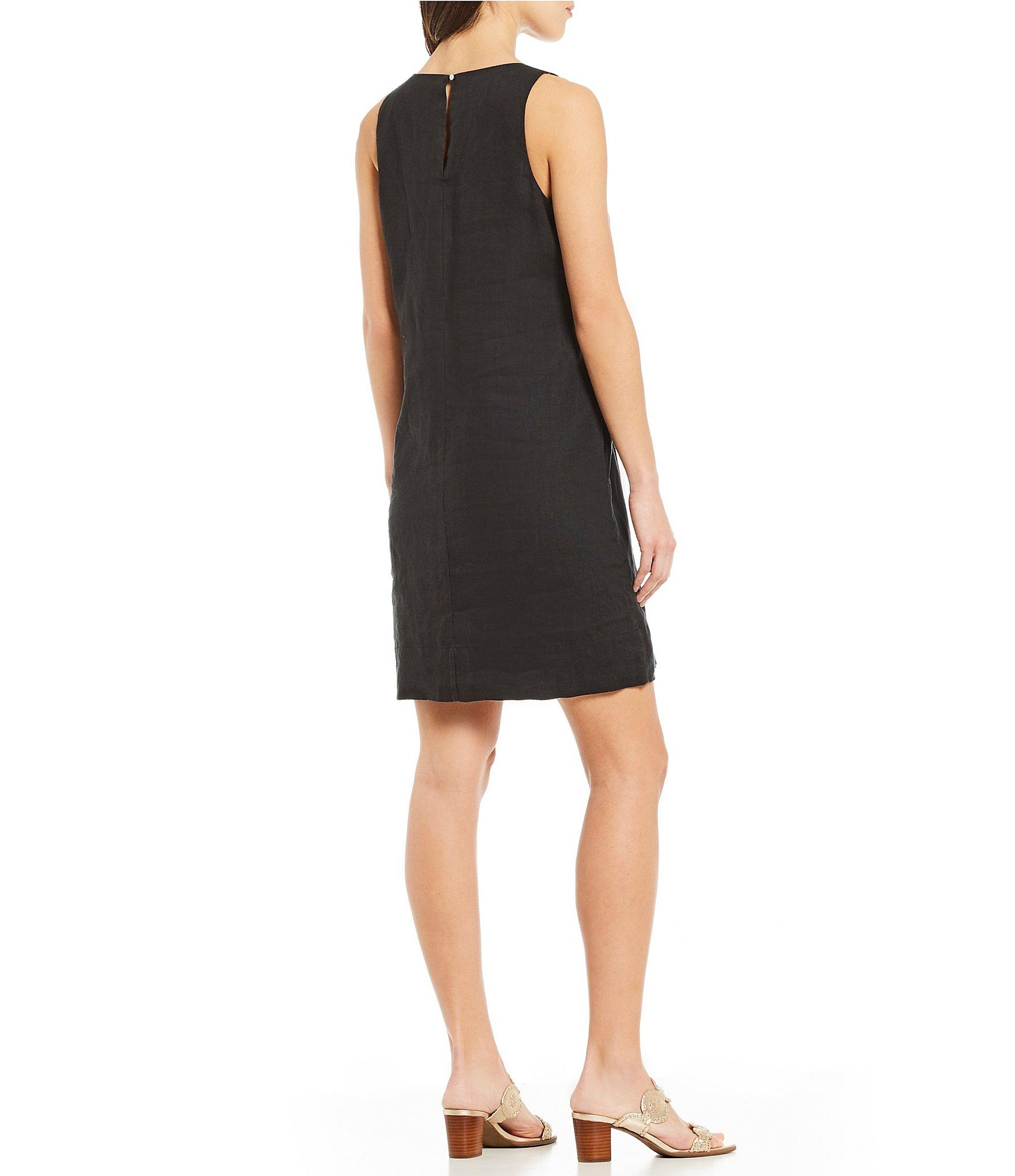 c55c7d8635 Tommy Bahama - Black Lux Linen Embellished Shift Dress - Lyst. View  fullscreen