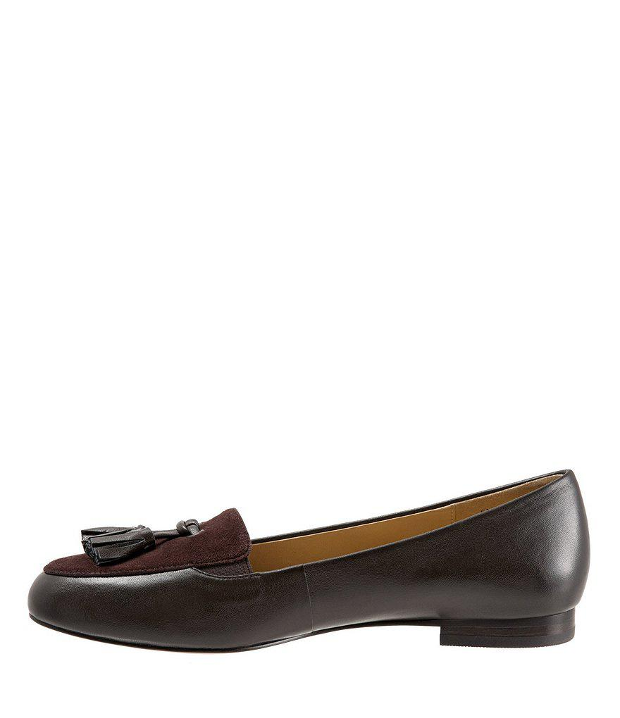 Trotters Caroline Leather and Suede Tassel Loafers rhG1Pu6wO