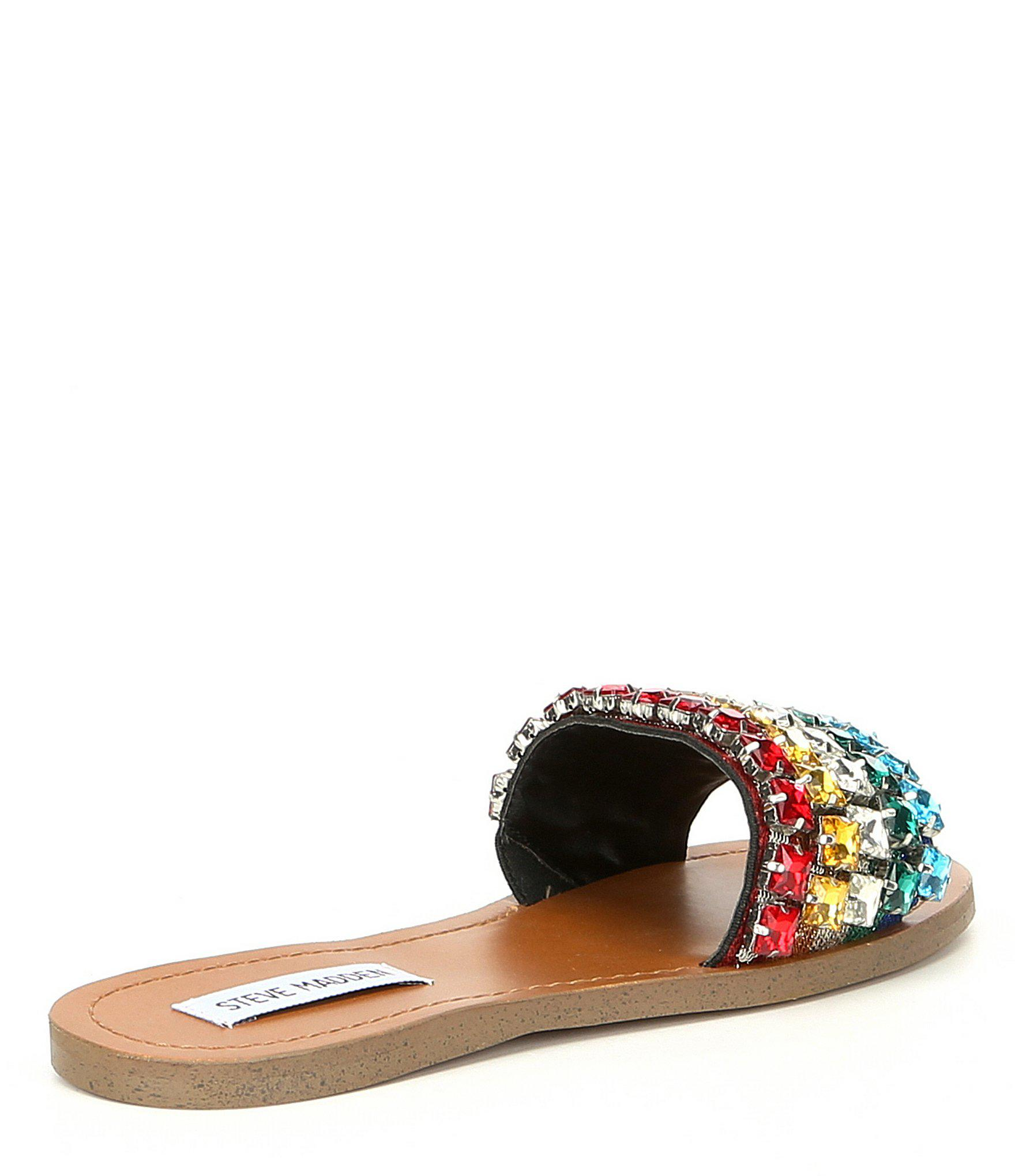 c630883da00 Steve Madden - Multicolor Serenade Slip On Rainbow Sandals - Lyst. View  fullscreen