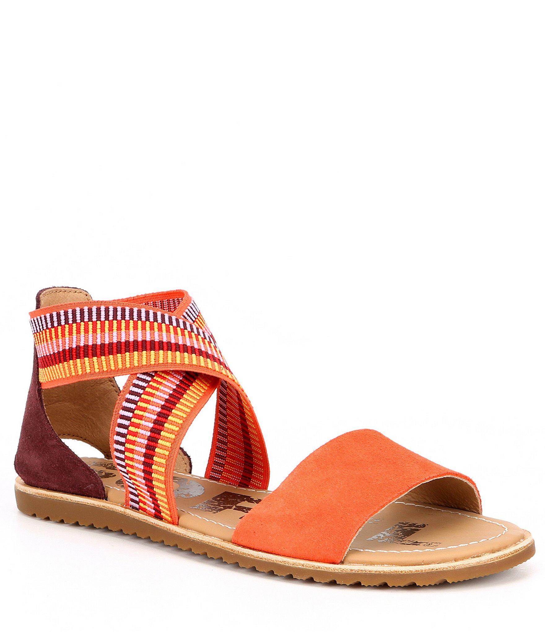 37b2f1806 Lyst - Sorel Ella Leather Platform Sandal in Red