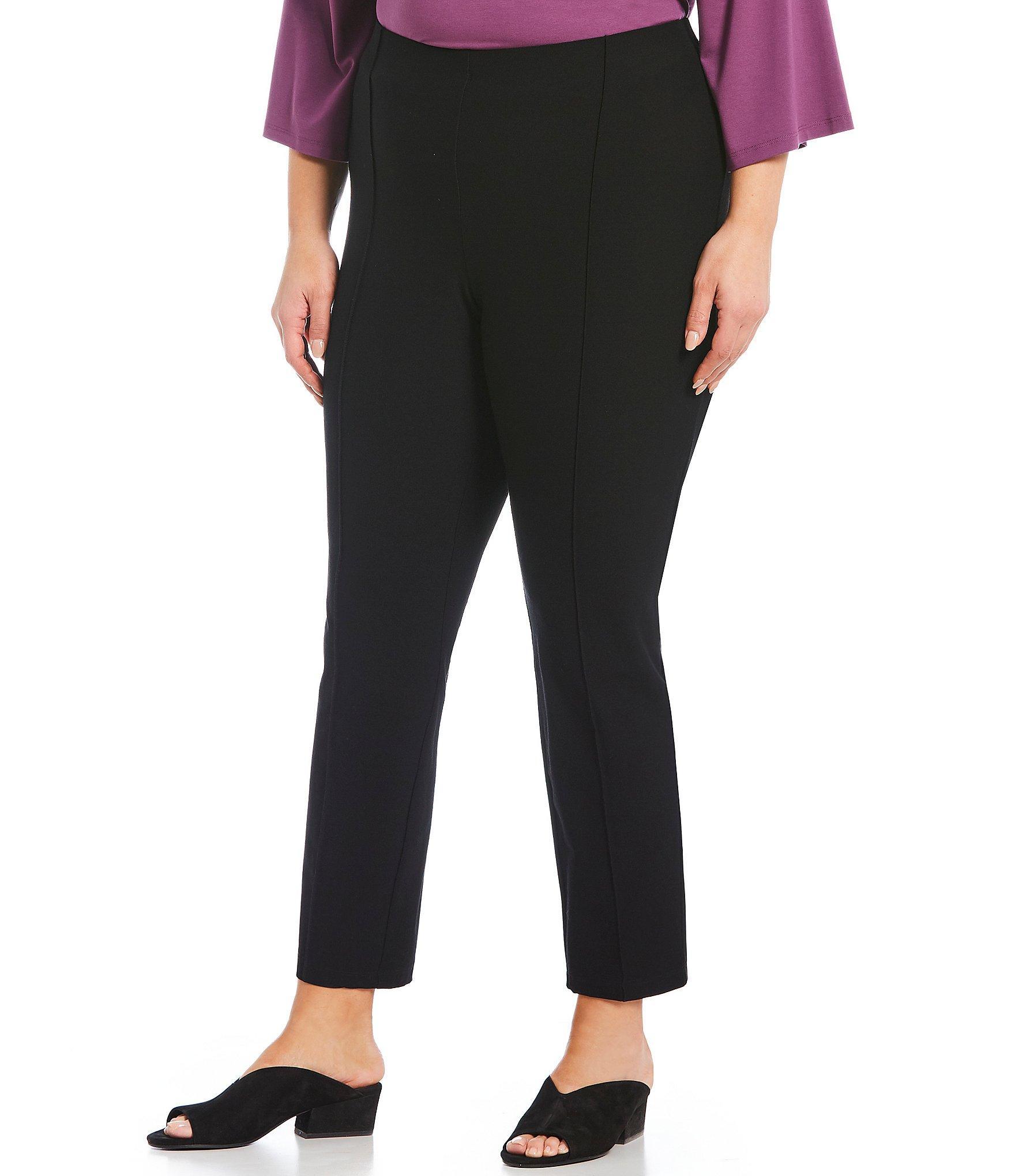 0c5e683ea80 Lyst - Eileen Fisher Plus Size High Waist Slim Ankle Pants in Black