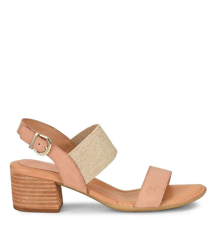 Born Opal Stretch Block Heel Sandals jcGrBfI