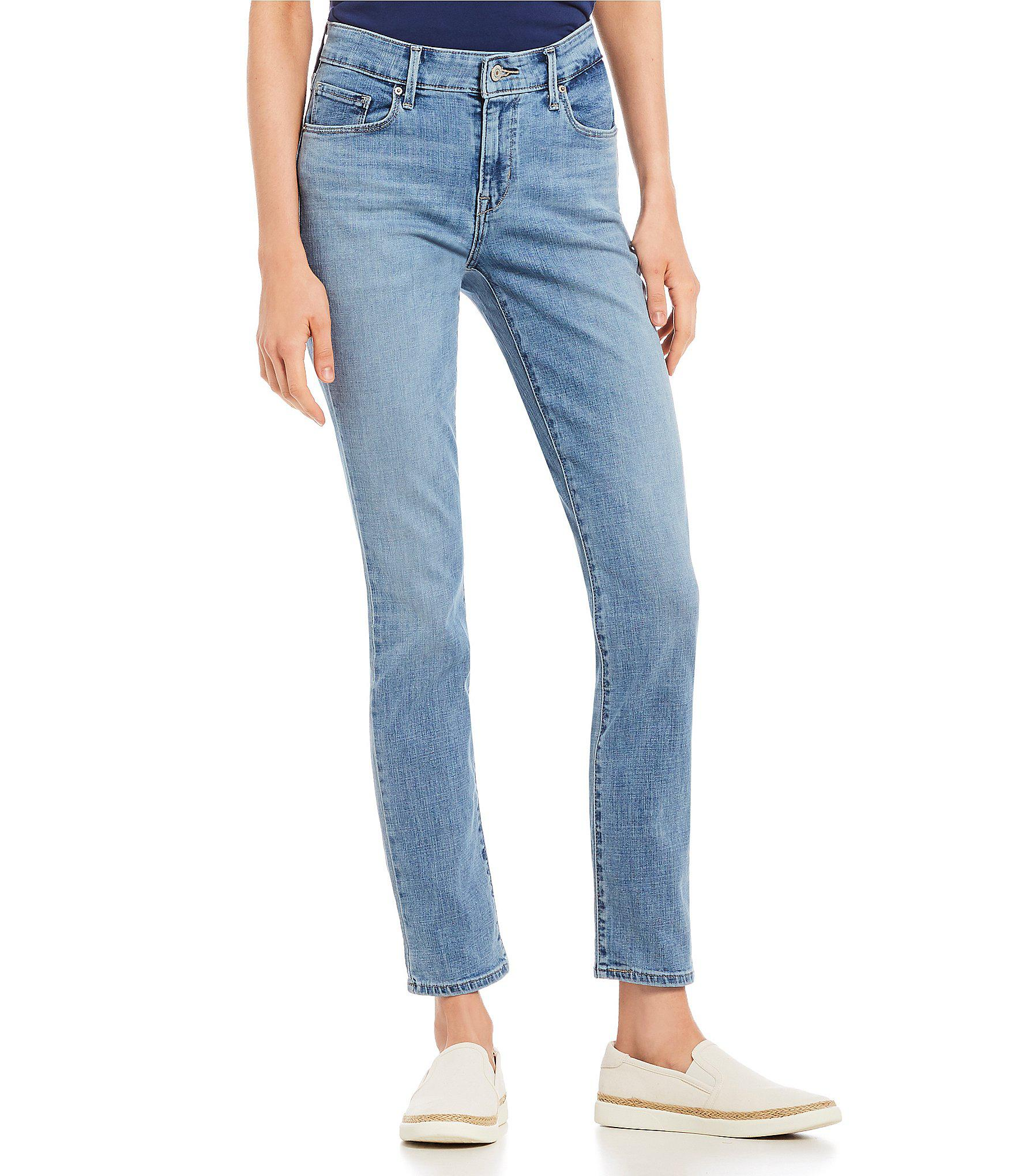 85350d7a84f Lyst - Levi s Classic Mid Rise Skinny Jeans in Blue