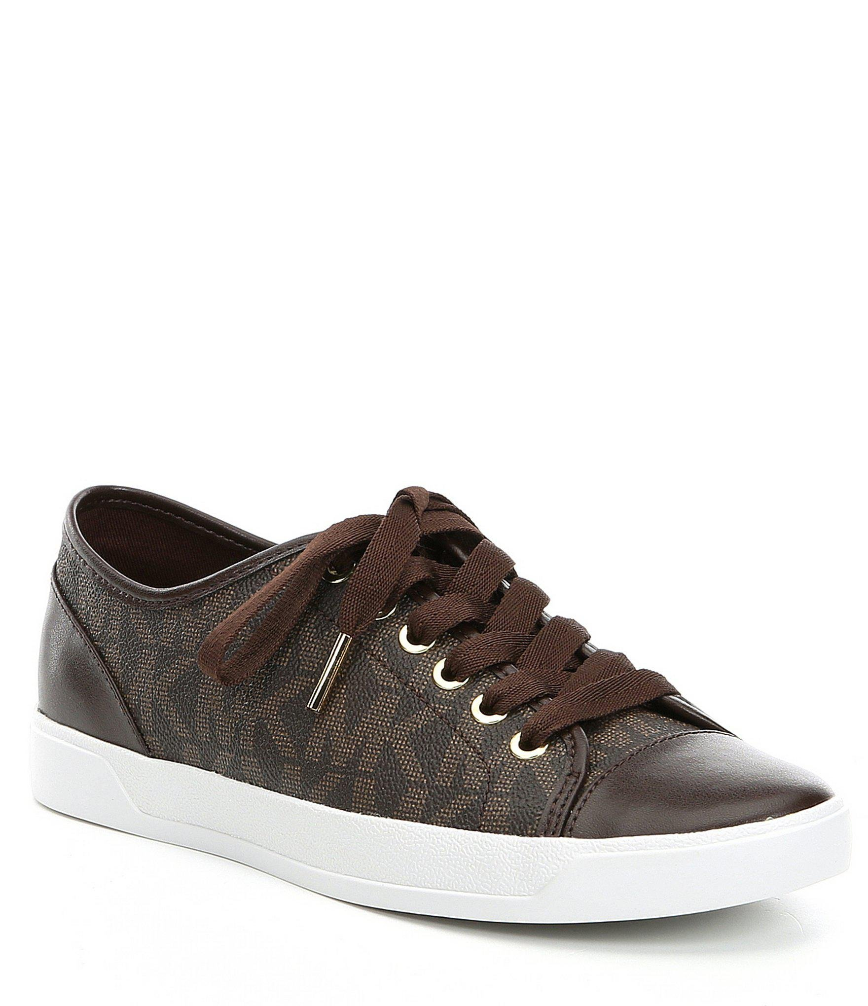 ecd1a172b8a4 Lyst - MICHAEL Michael Kors Mk City Sneakers in Brown