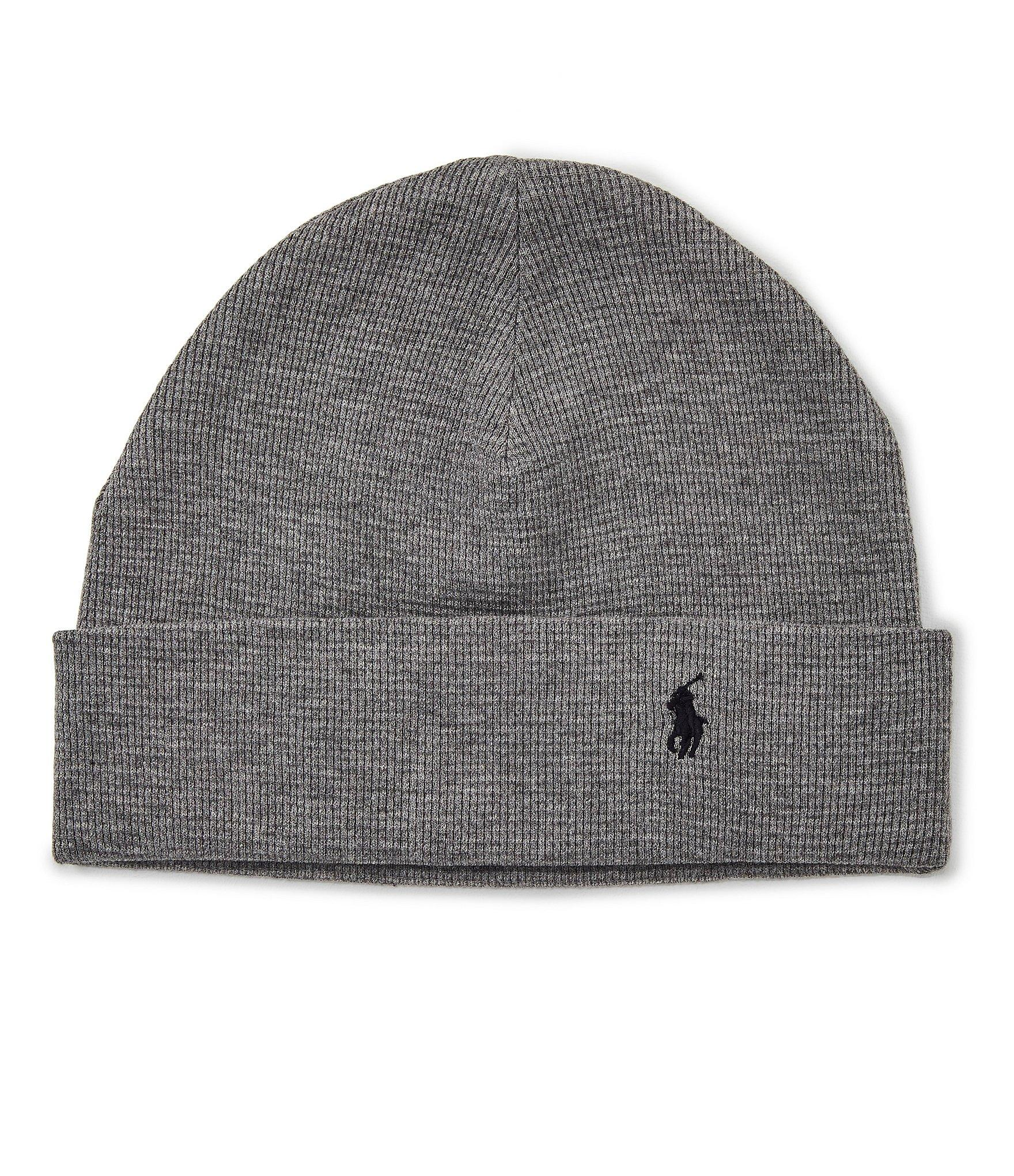 a25b30a7 Lyst - Polo Ralph Lauren Thermal Cuff Beanie in Gray for Men