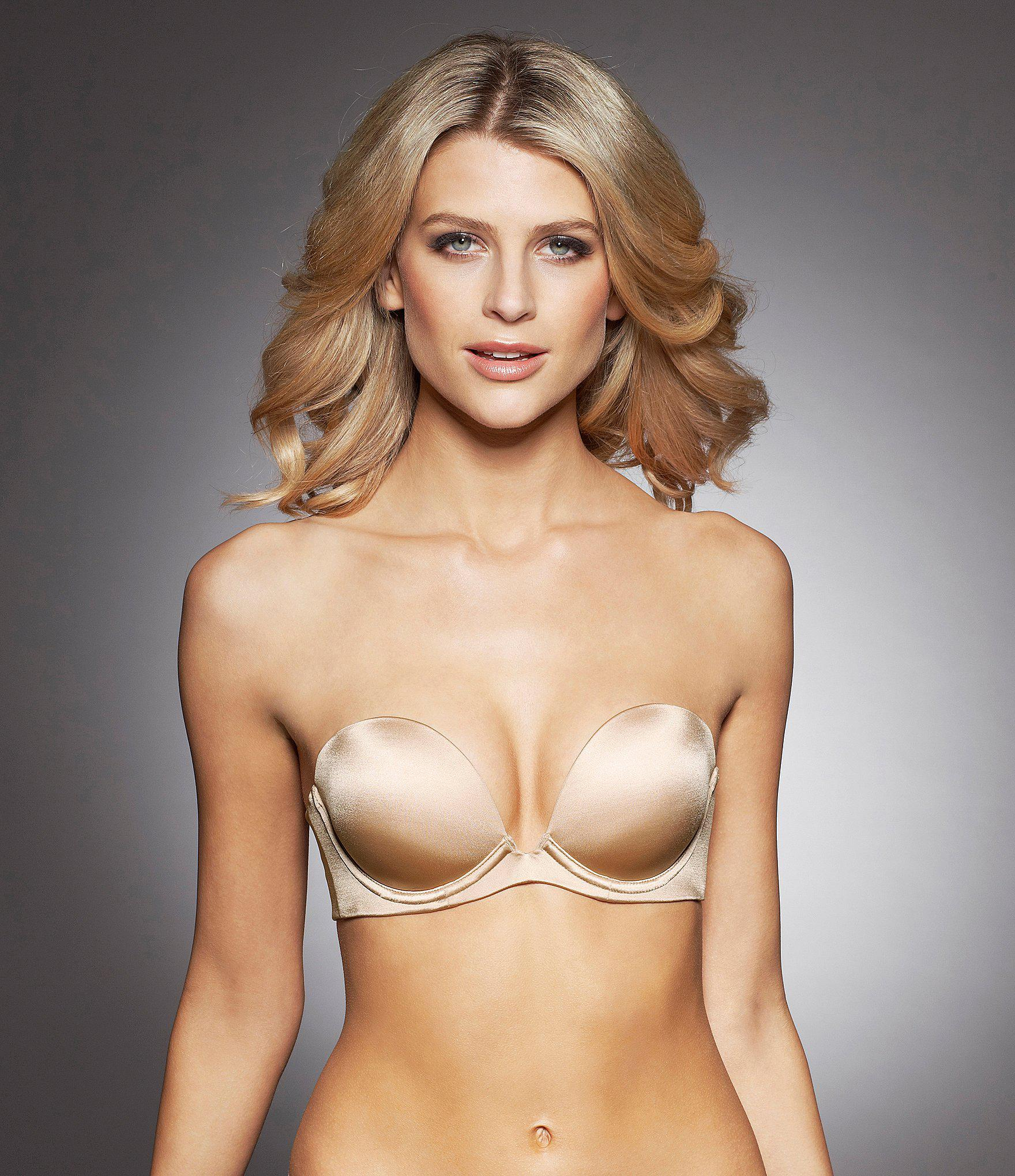 fa799f20af510 Lyst - Fine Lines Australia 6-way Low Cut Convertible Strapless Bra ...