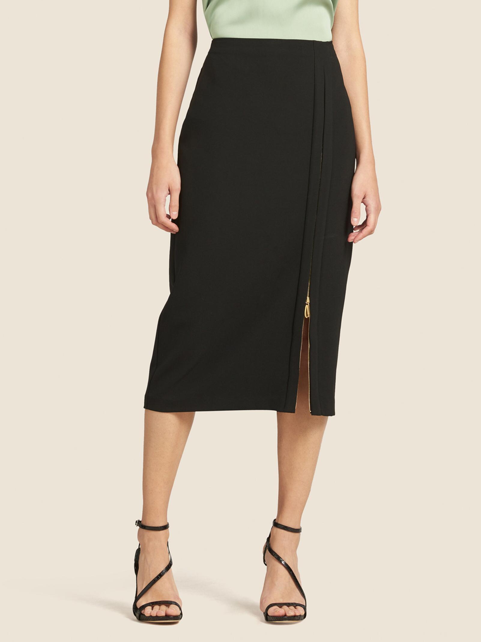 6f94001c5 Lyst - DKNY Front-zip Pencil Skirt in Black