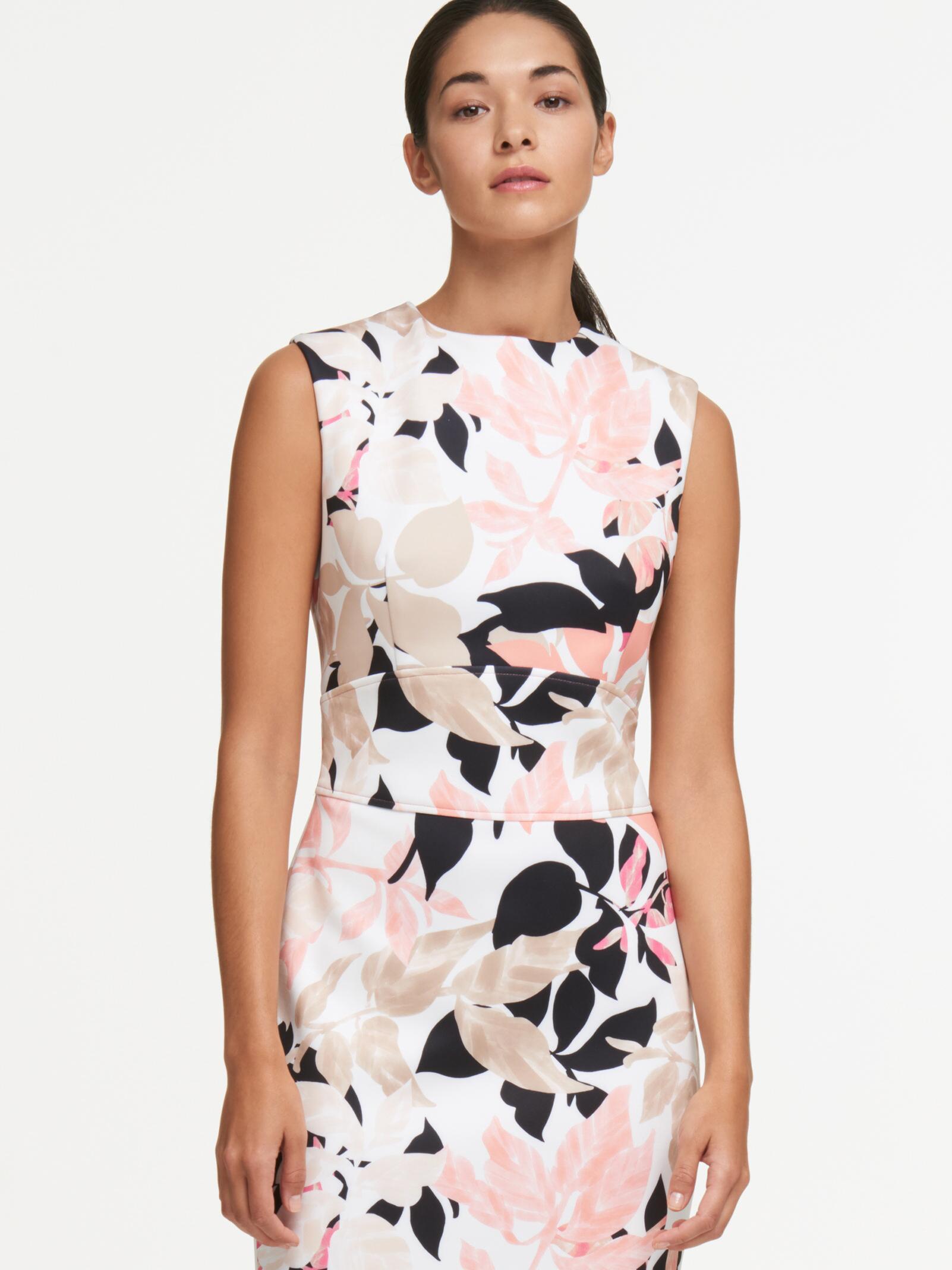 56f22d113f5 Lyst - DKNY Leaf Print Sheath Dress