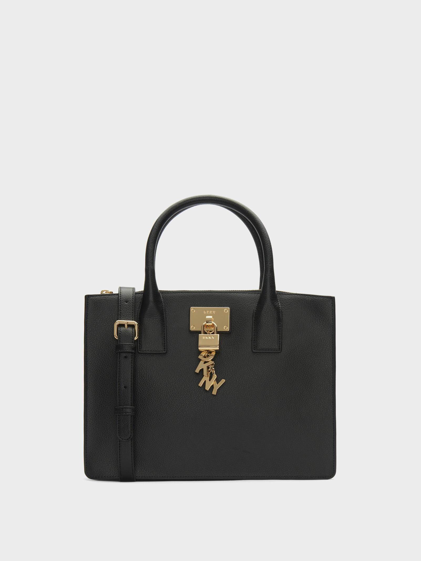 Tote - Elissa SM Tote Black/Gold - black - Tote for ladies DKNY