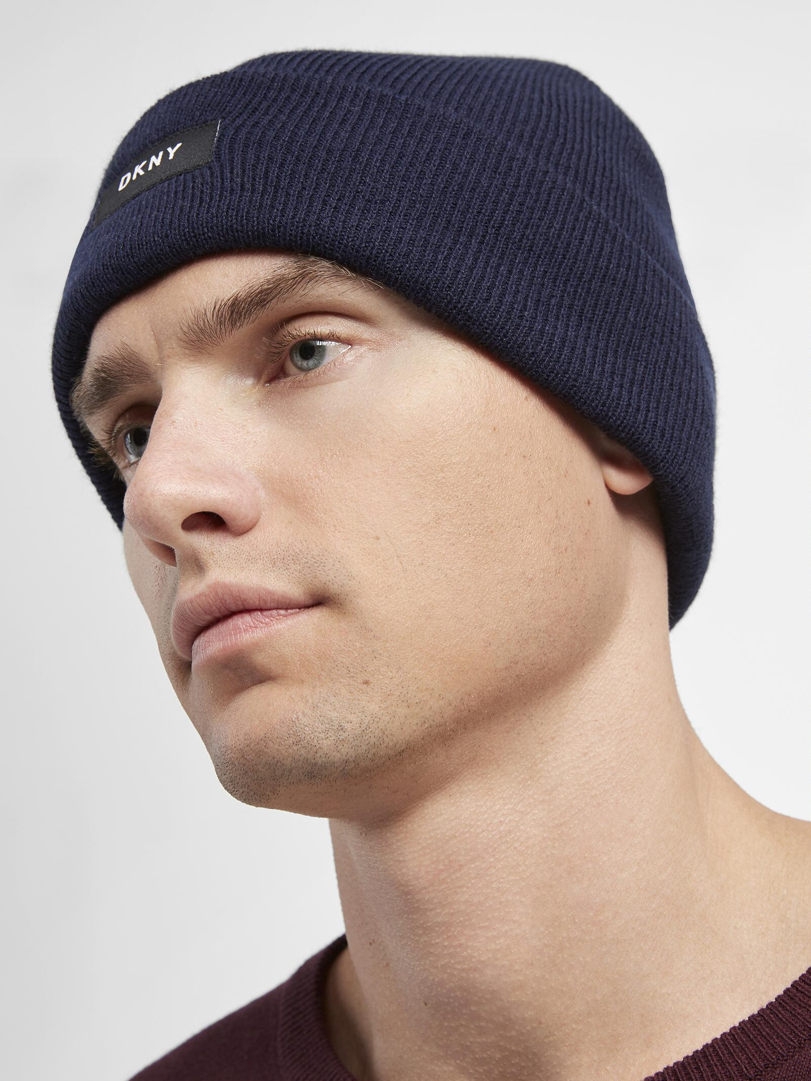 Lyst - DKNY Fold Over Hat in Blue for Men a7ed080bc2ee